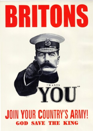 This famous poster showing Lord Kitchener was not actually as widely used as previously thought. | Imperial War Museum