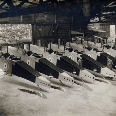 DH9 bombers during World War One passed and ready for delivery from the Alliance Aeroplane Company Ltd, Cambridge Grove. | Hammersmith and Fulham Archives