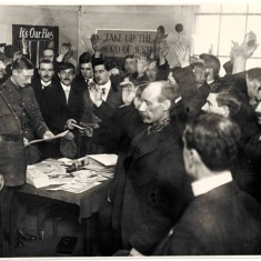 New recruits taking the oath at the White City Recruiting Station, December 1915.  | Hammersmith and Fulham Archives