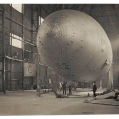 Sea Scout T14, the last blimp to be made at Wormwood Scrubs during World War One. | Hammersmith and Fulham Archives