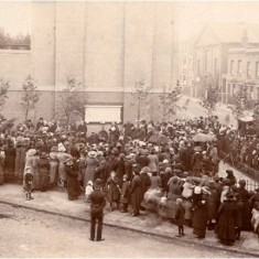 Unveiling ceremony of the Queen's Park War Memorial at the junction of Beethoven Street and Herries Street, 1920. | City of Westminster Archive Centre