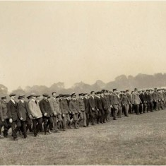 Training of new recruits for Lord Kitchener's new British Army, H Company in Regent's Park during the summer of 1914. | City of Westminster Archive Centre