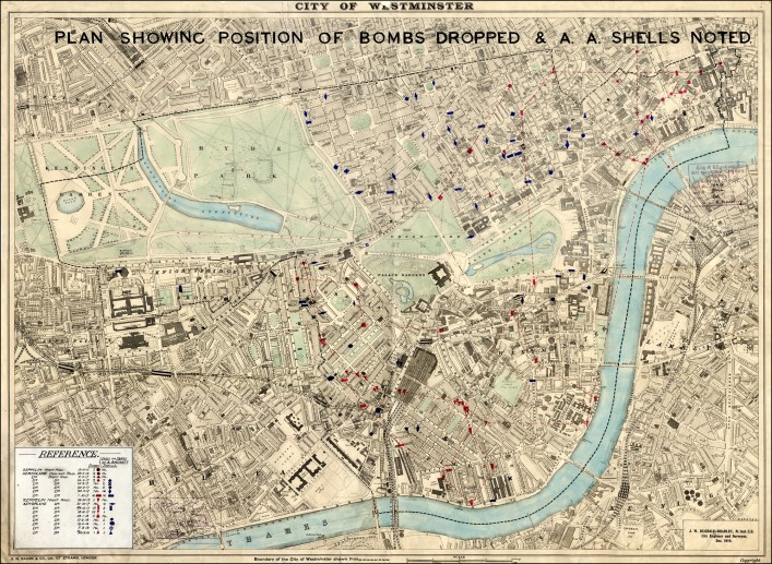 City of Westminster bomb map | City of Westminster Archive