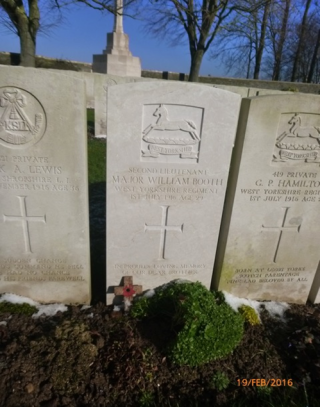 Booth's grave is identical to those that fought beside him | Beverley Forrest Leeds Trinity University