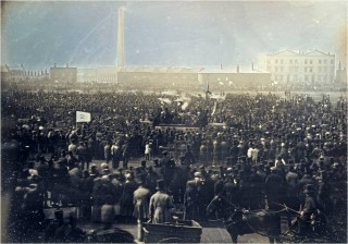 Photograph of Chartist meeting on Kennington Common- taken by William Edward Kilburn