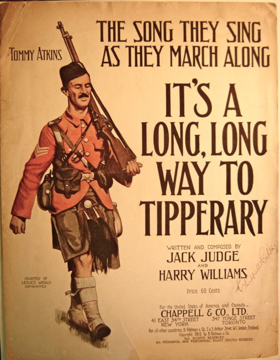 Iconic music hall hits such as, 'It's a Long Way to Tipperary' are firmly placed in the public's mind with the heady early days of volunteers being recruited in 1914. | Westmsinter Music Library