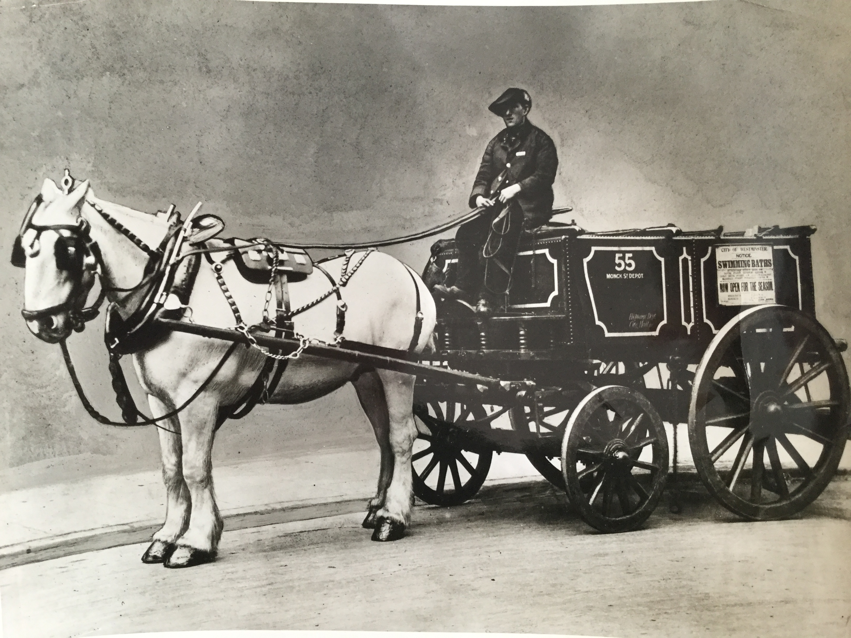 Private Ernest Boots was one of many men recruited by Westminster Council to cope with the Great Manure Crisis of the early 1900s when horse dung threatened to overwhelm Westminster's streets.