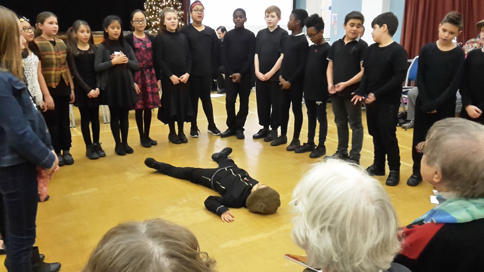 Children from Y6 re-enacted the final moments in the life of Westminster council dustman Private Ernest Boots