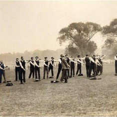 Members of Lord Kitchener's new British Army in training in Regent's Park during the summer of 1914. | City of Westminster Archive Centre