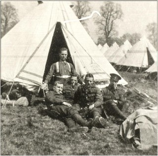 William Eve on training camp, 1914 | National Army Museum