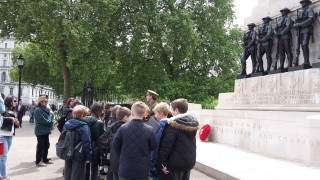 School visit to see the Horse Guards memorial