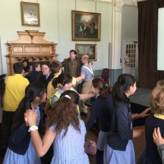 As the song 'Mademoiselle from Armentiere' is performed, the children join in with the dancing   Westminster Archives