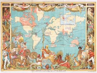 Map of the World showing the extent of the British Empire 1886 | Public Domain