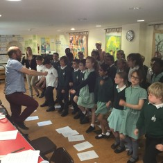 The children practice their marching    Westminster Archives