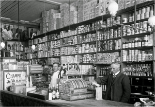 Photograph of an early grocery store | W.C.R.A.G