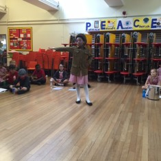 'Tilly the Trench' performing the war recruitment song 'Your King and Country Want You'   Holly Robjohns