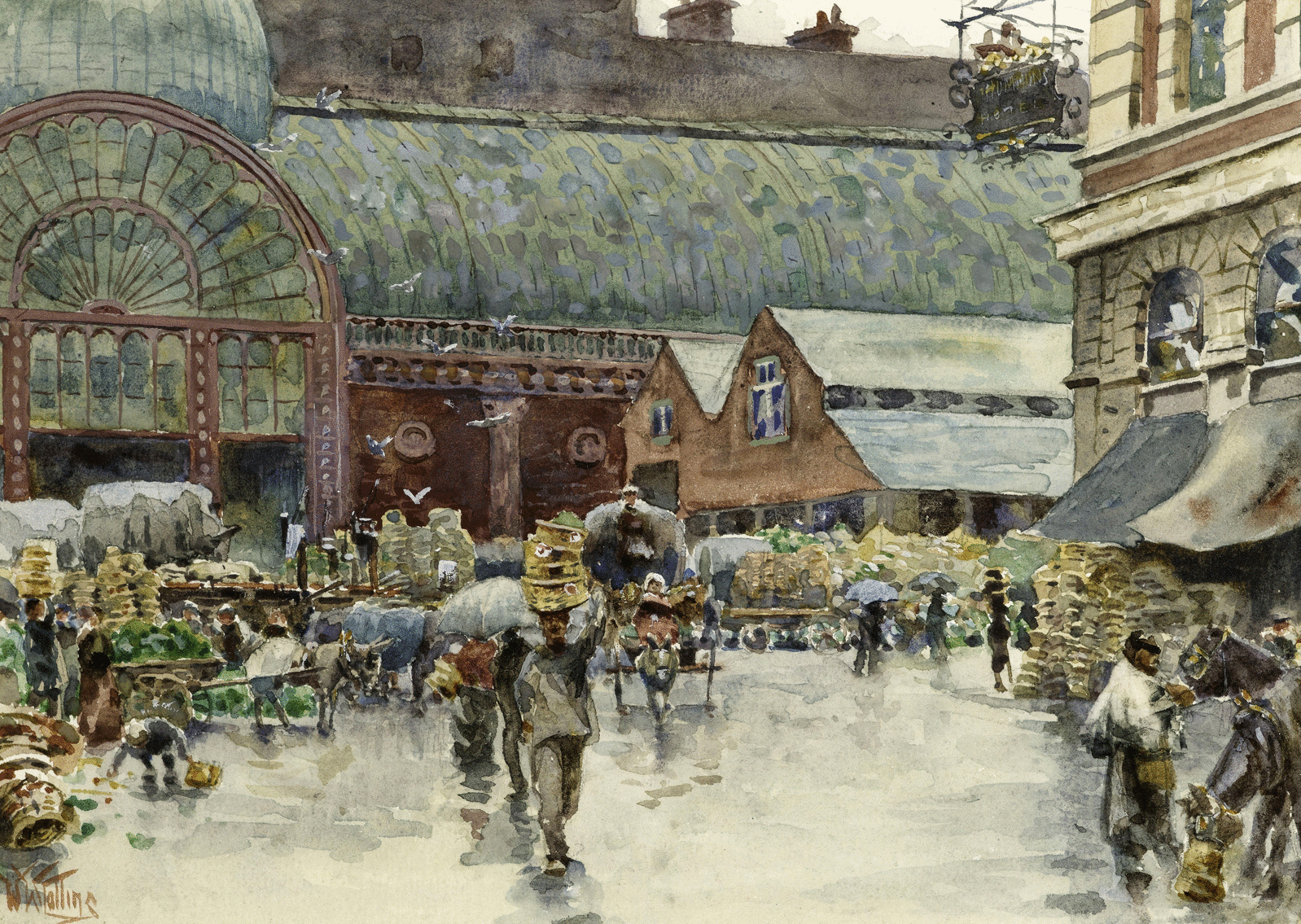 A busy Covent Garden in 1910